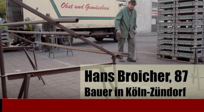 Hans Broicher, Bauer, 87